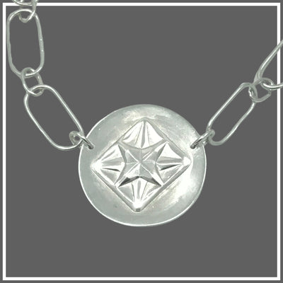 Argentium Silver Compass Star Necklace