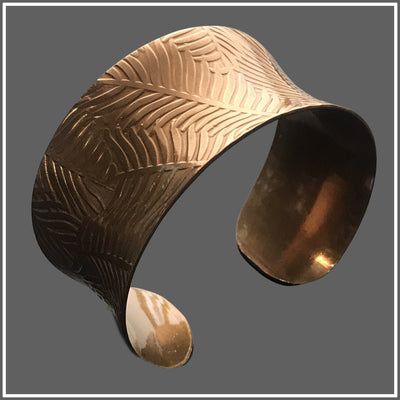 Copper Feather Anticlastic Cuff by Marye Brenda