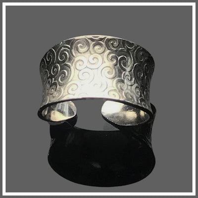 Sterling Silver Anticlastic Cuff Ring Swirl by Marye Brenda