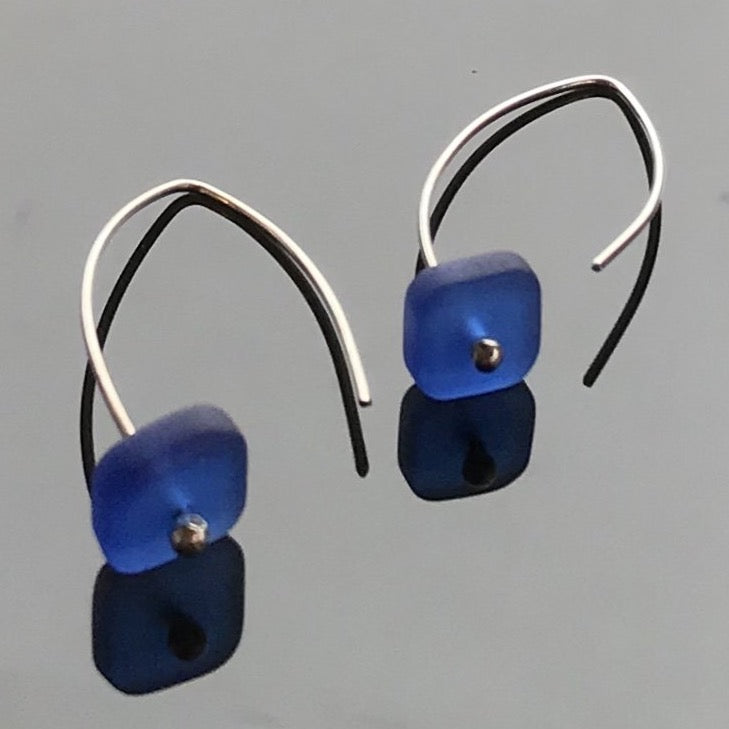 Cobalt Blue Silver Earrings