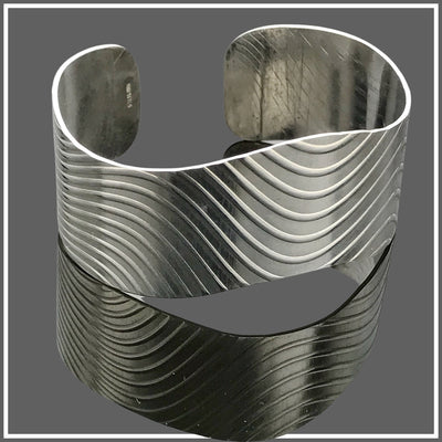 Fine Silver Wave Cuff by Marye Brenda