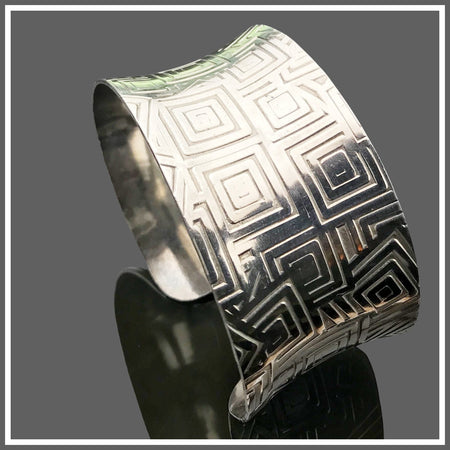 Sterling Silver Anticlastic Geometric Cuff