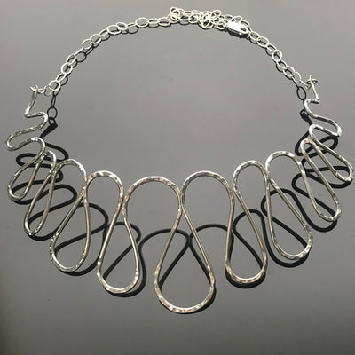 Silver Refinement Necklace by Marye Brenda