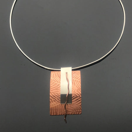 Sterling Silver and Copper Necklace