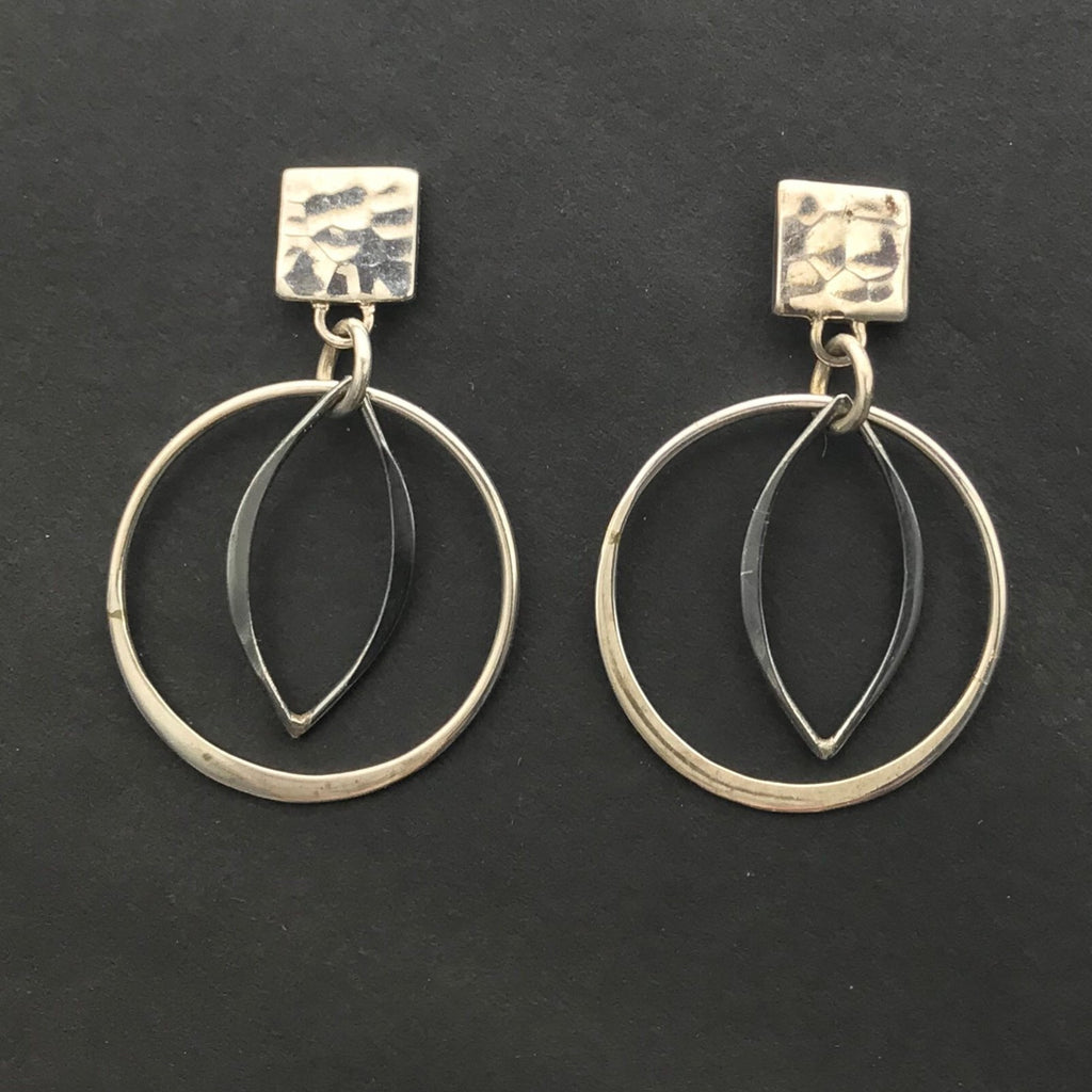 Sterling Silver Hammered Post Earrings