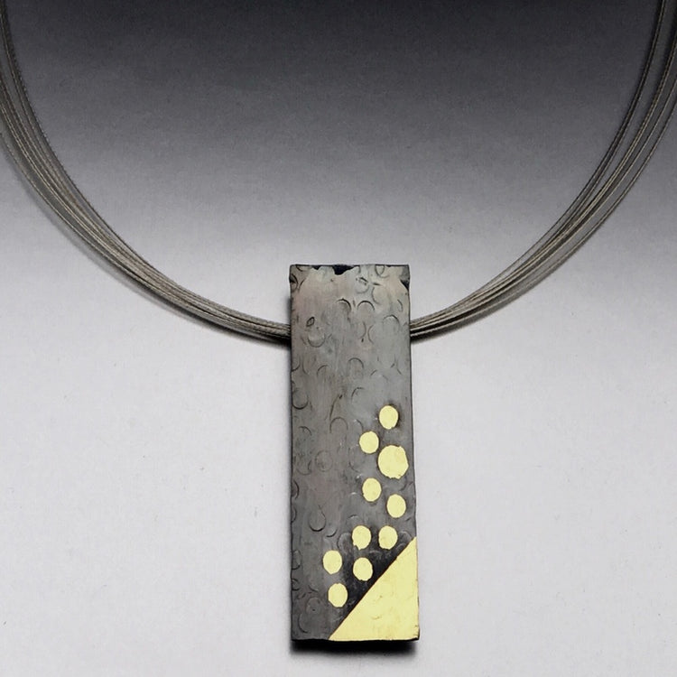 Keum Boo Fine Silver 24k gold necklace