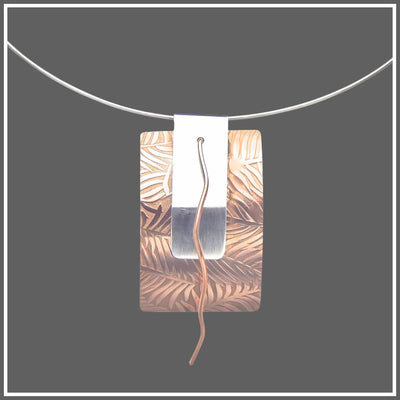 Sterling Silver and Copper Necklace Confidence by Marye Brenda