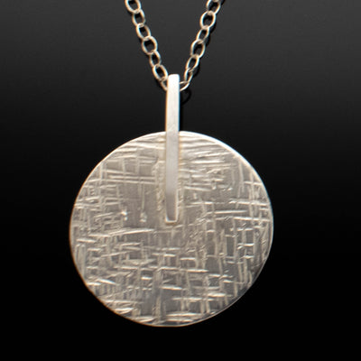 Argentium Silver Circular Bar Abstract Necklace