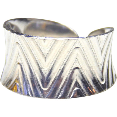Silver Cuff Ring - Anticlastic Diamond Design, Rings, Marye Brenda Jewelry Designs