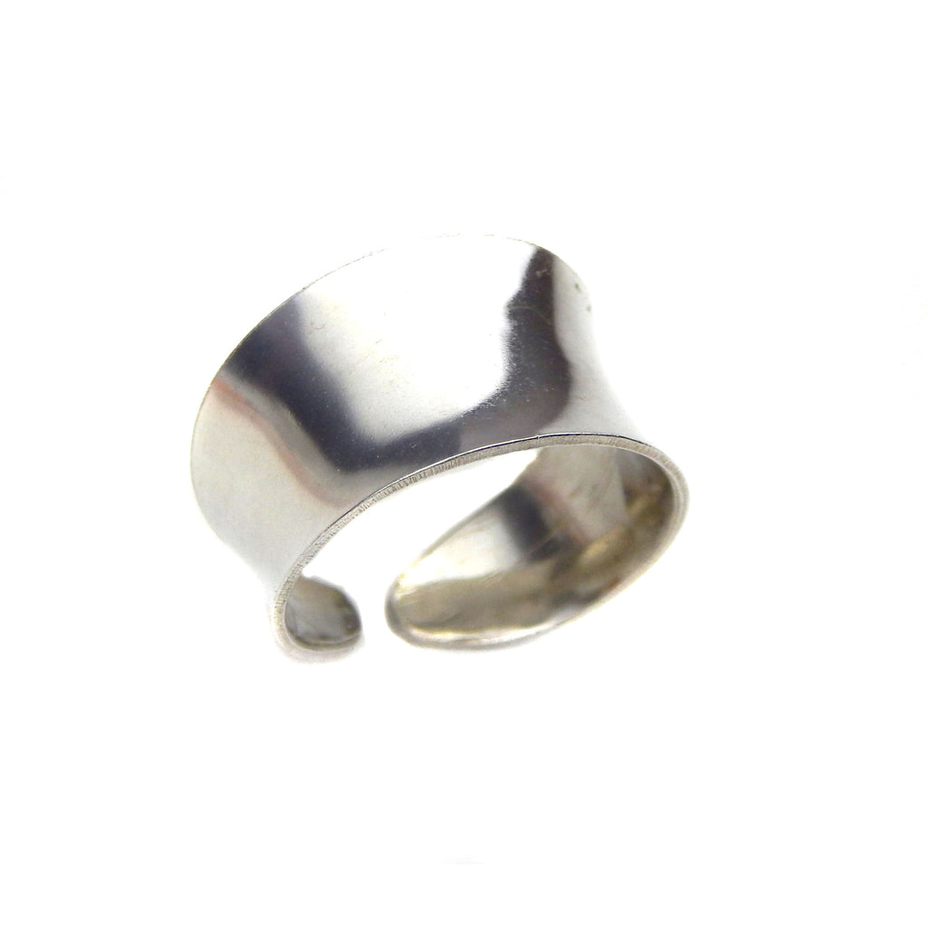 Silver Anticlastic Cuff Ring - Marye Brenda Jewelry Designs