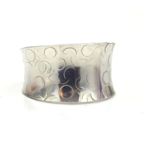 Silver Cuff Ring - Anticlastic Bubble Design -  -  Marye Brenda Jewelry Designs - 1