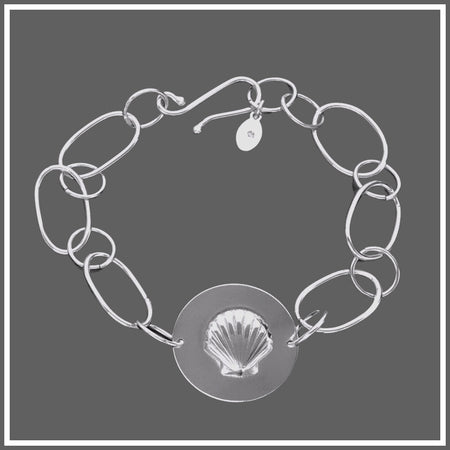 Silver Seashell Bracelet by Marye Brenda  Edit alt text
