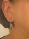 Sterling Silver Double Marquise Earrings by Marye Brenda