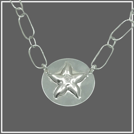 Argentium Silver Starfish Necklace by Marye Brenda