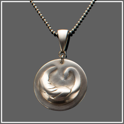 Argentium Silver Swan Necklace with Ball Chain
