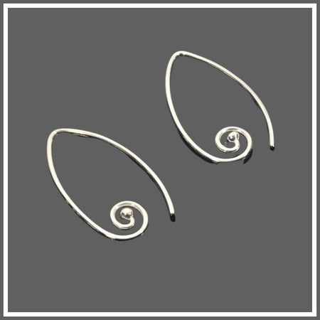 Silver Swirl Earrings by Marye Brenda Jewelry
