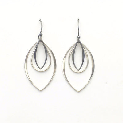Silver Dangle Earrings - Triple, Earrings, Marye Brenda Jewelry Designs