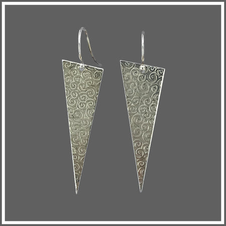 Silver Triangle Earrings, Earrings, Marye Brenda Jewelry Designs