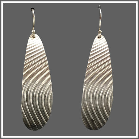 Fine Silver Wave Earrings by Marye Brenda