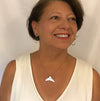 Sterling Silver Whale Tail Necklace worn by Marye Brenda