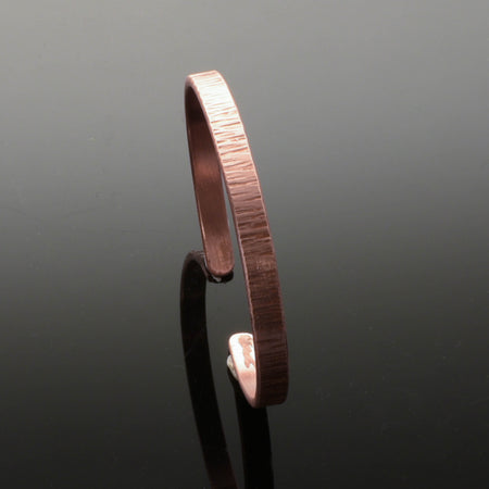 Copper Anticlastic Bark Cuff