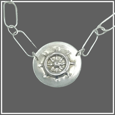 Argentium Silver Captain's Helm Necklace by Marye Brenda