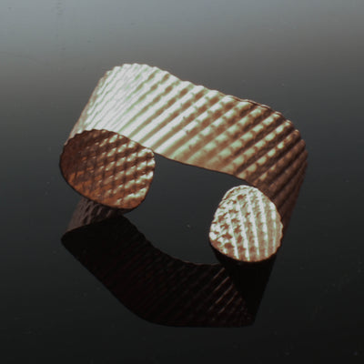 Copper corrugated cuff bracelet