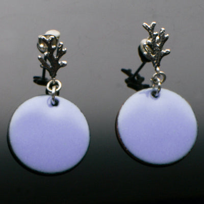 Sterling Silver Coral Post Earrings