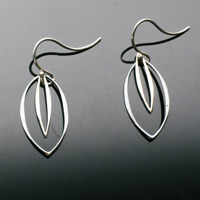 Silver Marquis Earrings, Earrings, Marye Brenda Jewelry Designs