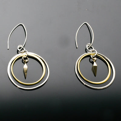 Sterling Silver and 24k gold plate earrings by Marye Brenda