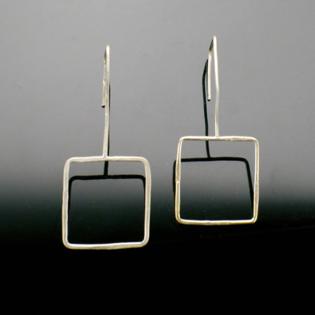 Argentium Silver Square Earrings