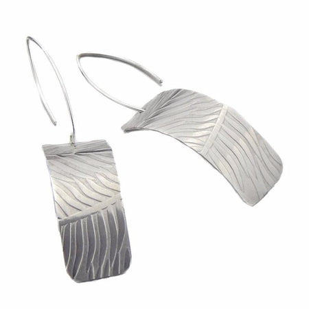 Silver Synclastic Earrings - Feather Design, Earrings, Marye Brenda Jewelry Designs