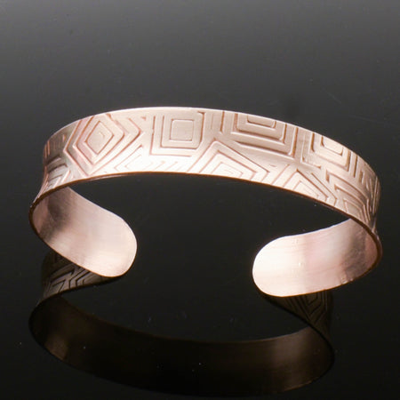 Bronze Anticlastic Geometric Cuff