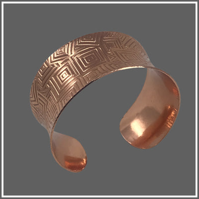 Copper Anticlastic Geometric Cuff Bracelet by Marye Brenda