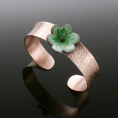 Copper Flower Cuff