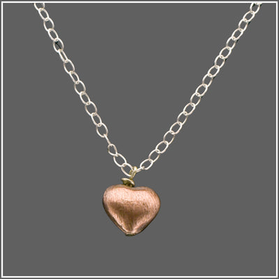 Copper Heart Necklace by Marye Brenda