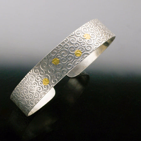 Keum Boo Cuff by Marye Brenda Jewelry