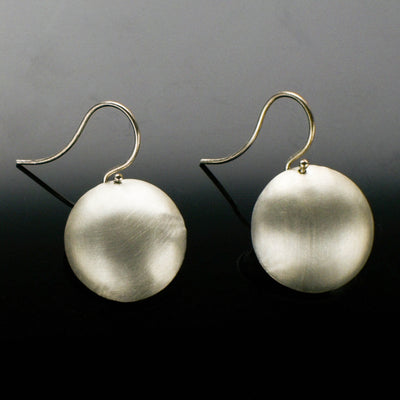 Satin domed earrings