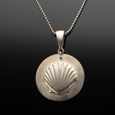 Argentium Silver Sea Shell Necklace with Ball Chain