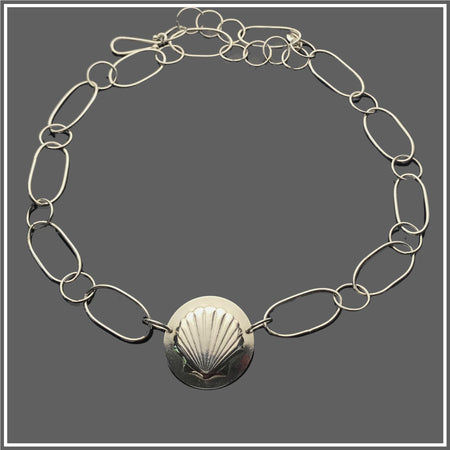 Argentium Silver Seashell Necklace by Marye Brenda