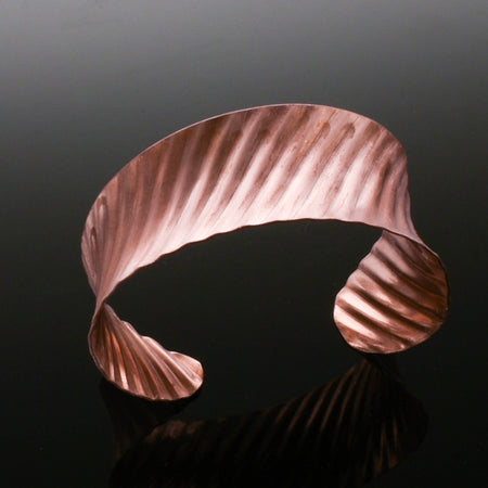 Copper Corrugated Cuff