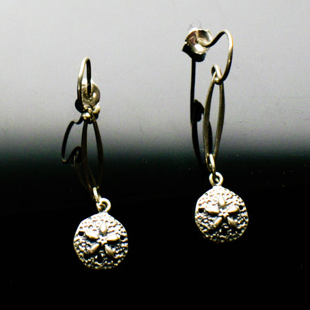 Sterling Silver Seashell marquise earrings