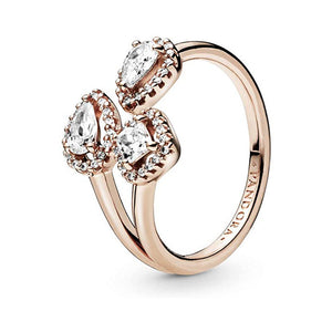 Pandora Ring Rosé Geometric Shapes 188494C01