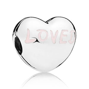 Pandora Charm Clip Loved Heart 797807EN124