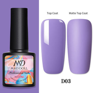 1 Bottle 8ml MAD DOLL Spring Series Gel Polish Color Nail Gel Soak Off LED UV Gel Varnish Nail Art DIY Nail Art Design