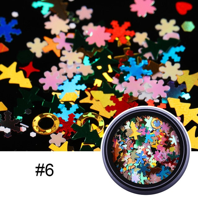 1 Box Matting Series Nail Sequins Flakies Round Colorful Nails Flakies Paillette Accessories 3D Nail Art Decoration in Box