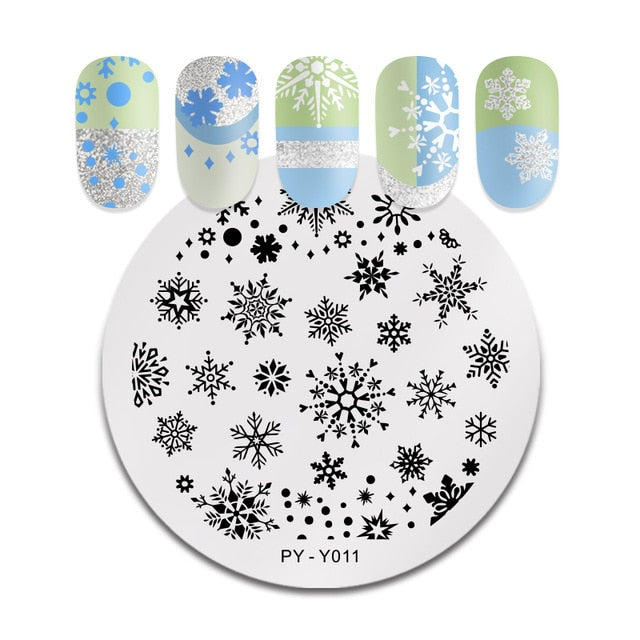PICT You Valentine's Day Nail Stamping Plates Love Rose Flower Stamp Plate Stainless Steel Nail Design Stencil Tools PY-J033