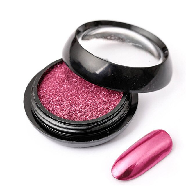 2ml Nail Powder Bright Metallic Effect Nail Mirror Powder Manicure Fashion Colorful Sculpture Powder