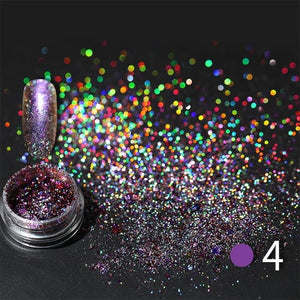 LEMOOC Nail Shimmer Powder Shining Rose Gold Metal Mirror Effect Nail Chrome Pigment  Dust Nail Art Decoration