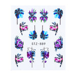 1pcs Black Floral Nail Water Transfer Stickers Decals Flowers Leaves Decorations Designs Nail Art Sliders Manicure TRSTZ880-902